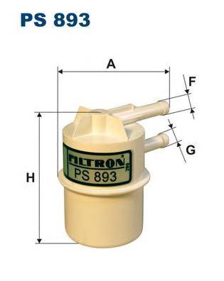 Фильтр топливный FILTRON PS893 Mitsubishi COLT/LANCER/GALANT/L200/L300 1,2-2,0L 86-> (carb.)