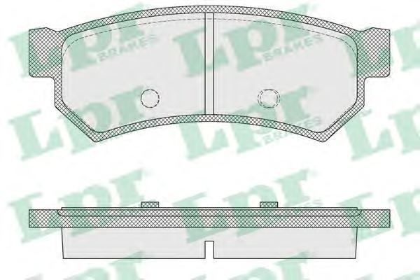 Колодки тормозные LPR 05P1564 Chevrolet LACETTI (2007-) задн (без ушек)