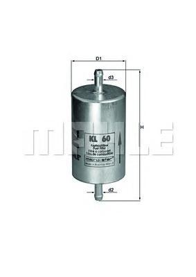 Фильтр топливный VW Polo 1,4-1,6 96->, OPEL OMEGA A/Kadett E 1.8-3.0 24V