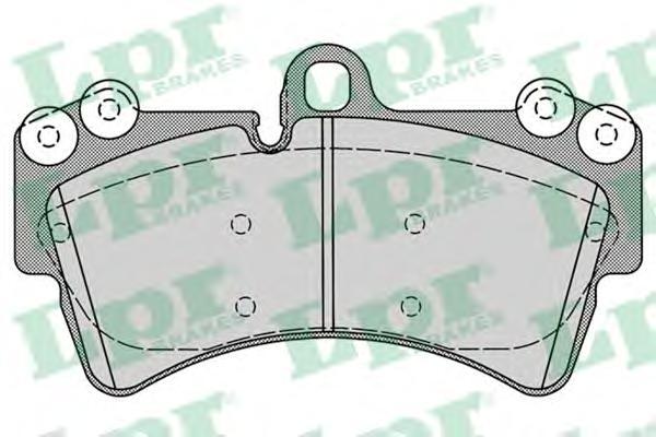 Комплект тормозных колодок 05P1257