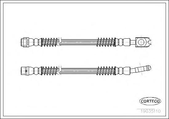Шланг тормозной VW: TOUAREG 2.5 R5 TDI 02-10