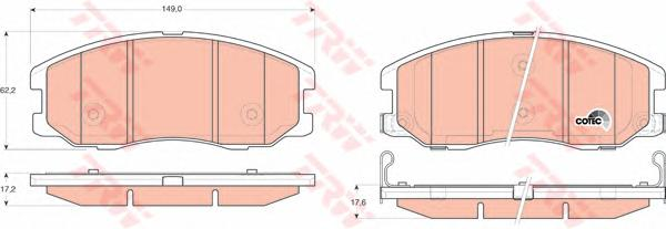Колодки передние CHEVROLET CAPTIVA, OPEL ANTARA GDB1715