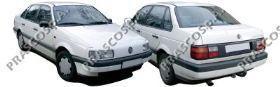 Зеркало в сборе с электроприводом грунтованное, правое / VW Passat-III/IV 88~97
