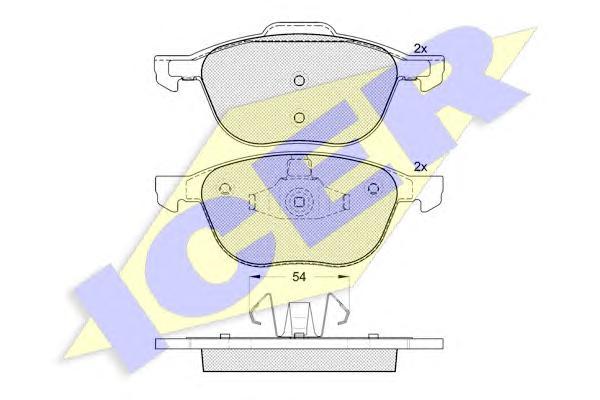 Колодки тормозные ICER 181617 /181617203/ FORD FOCUS II, VOLVO S40