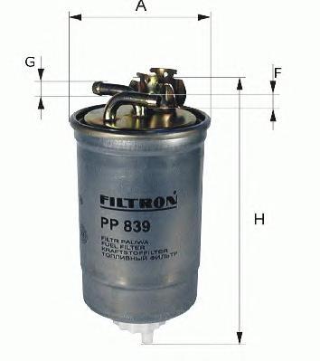 Фильтр топливный PP839