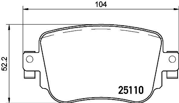 Комплект дисковых тормозных колодок SKODA OCTAVIA Combi (5E5) 11/13-> R / SKODA OCTAVIA Combi (5E5)