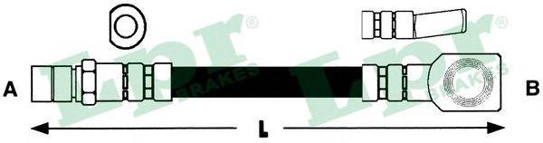 Шланг тормозной LPR 6T46159 OPEL 340мм