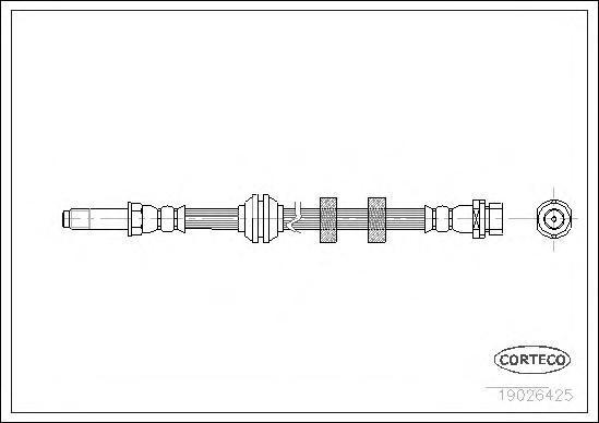 Шланг тормозной Fr Ford Mondeo 375мм 93-00