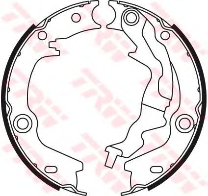 Колодки ручного тормоза TRW GS8781 KIA RIO `05-