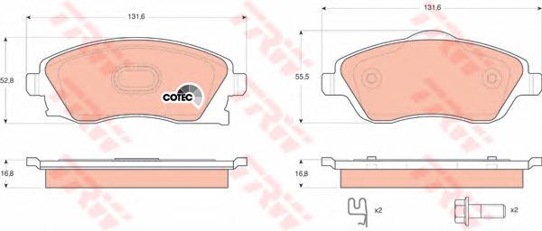 Колодки передние OPEL CORSA C, MERIVA GDB1570
