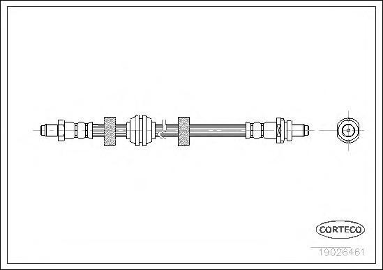 Тормозной шланг задний [540mm]