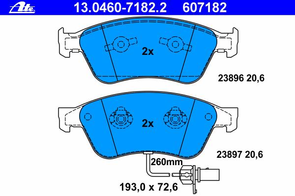 Колодки тормозные дисковые передн, AUDI: A6 S6 quattro 04-11, A6 Avant S6 quattro 05-11, A8 2.8 FSI/3.0/3.0 TDI quattro/3.2 FSI/3.2 FSI quattro/3.7 quattro/4.0 TDI quattro/4.2