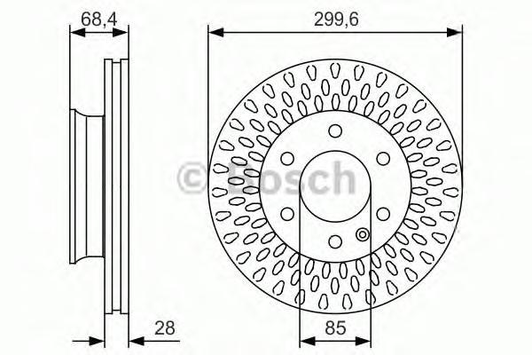 Тормозной диск передний 0986479R78