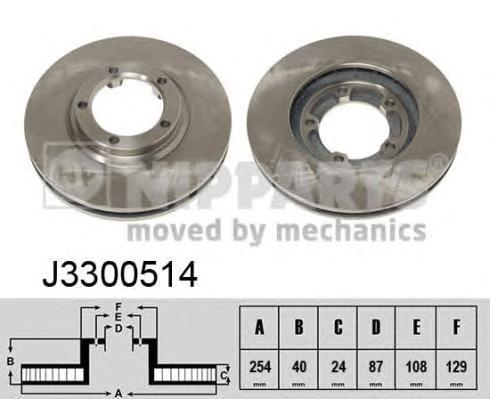 Диск тормозной NIPPARTS J3300514 Hyundai H-1 /H200 пер 254*24