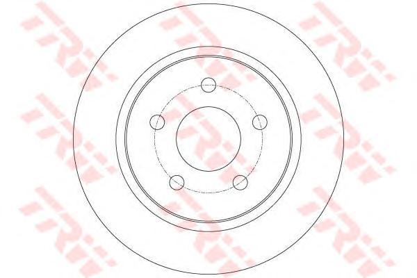 Диск тормозной задний FORD FOCUS III DF6139