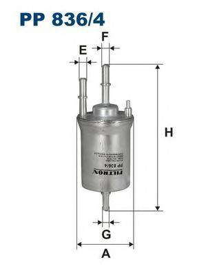 Фильтр топливный PP836/4