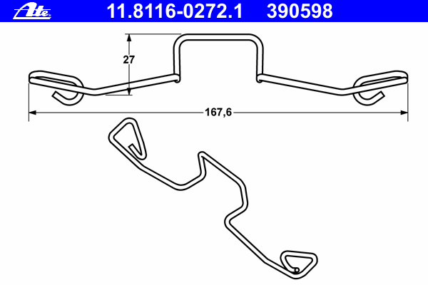 Комплект монтажный тормозных колодок VW: SHARAN 1.8 T 20V/1.9 TDI/1.9 TDI 4motion/2.8 V6 24V/2.8 V6