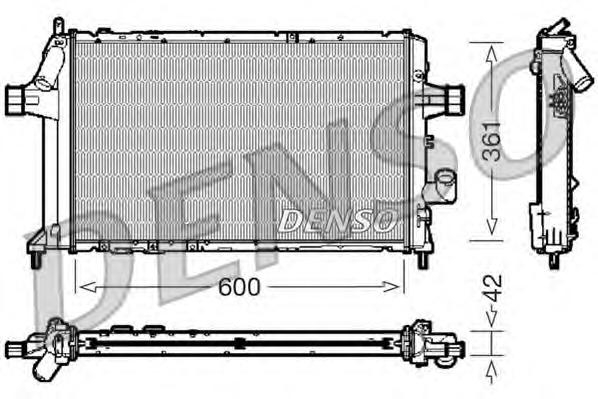 Радиатор системы охлаждения OPEL: ASTRA G Наклонная задняя часть (F48, F08) 1.7 TD 98 - 05 , ASTRA G