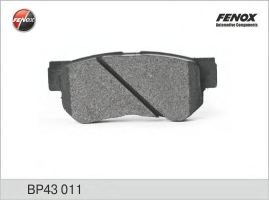 Колодки задние Hyundai Elantra 06-, Sonata EF/NF, Santa Fe (SM) 01-06 BP43011