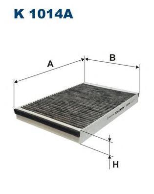 Фильтр салонный угольный K1014A
