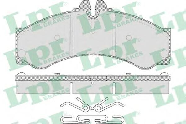 Комплект тормозных колодок 05P633