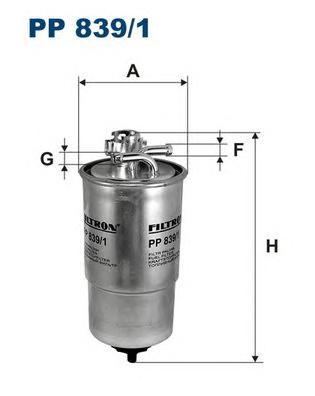 Фильтр топливный PP839/1