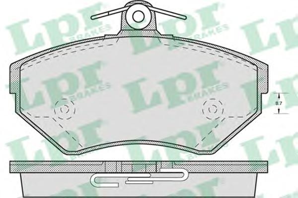 Комплект тормозных колодок 05P718