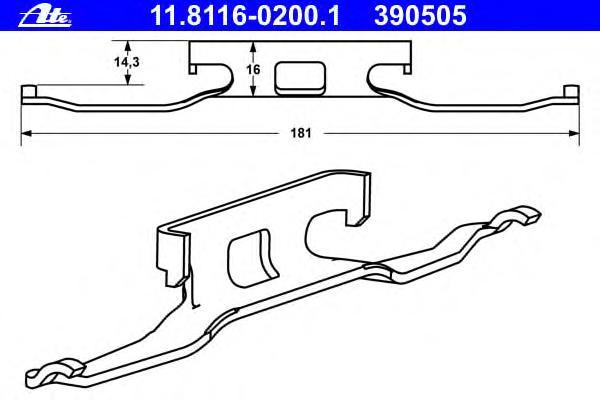 Комплект монтажный тормозных колодок MERCEDES-BENZ - VITO автобус (638) - 113 2.0 (638.11-