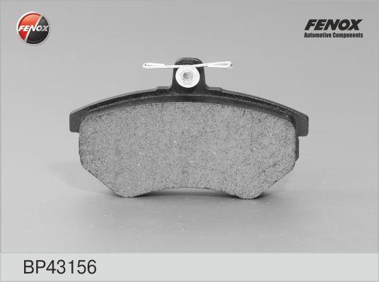 Колодки тормозные FENOX BP43156 VW GOLF III/PASSAT пер