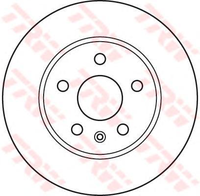Диск тормозной передний OPEL INSIGNIA, SAAB 9-5 (296мм) DF4995S