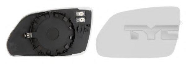 Стекло зеркала лев с подогр, асферич SKODA: OCTAVIA (2004-09) / VW POLO IV - SERIE 2 (2005-09)