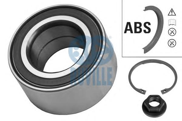 Подшипник ступицы передний FORD FOCUS, FUSION +ABS 5255