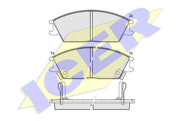 Колодки тормозные ICER 180887 HYUNDAI ACCENT/GETZ + скрипуны