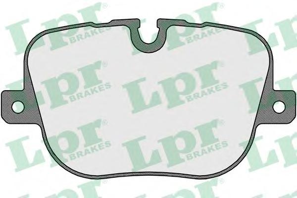 Колодки тормозные LPR 05P1652 RANGE ROVER III 09- задн