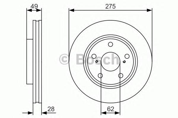 Тормозной диск передний 0986479R58
