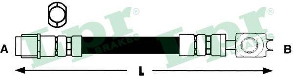 Шланг тормозной LPR 6T48237 Touareg зад. (под болт ,см рисунок)