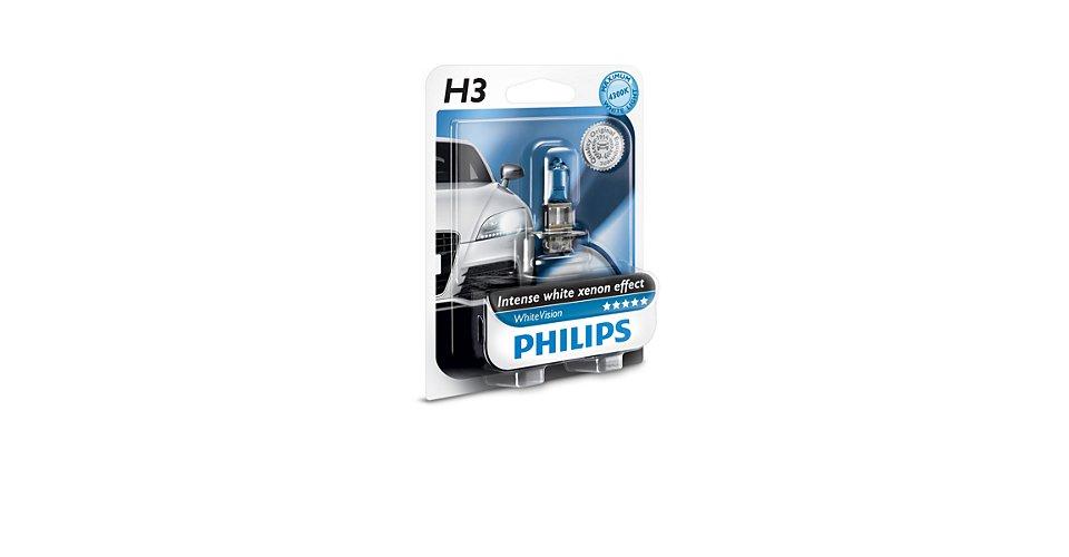 Лампа H3 WhiteVision 12V 55W PK22S 4300K