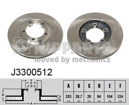 Диск тормозной NIPPARTS J3300512 (PHC) Hyundai PORTER (ТАГАЗ) пер