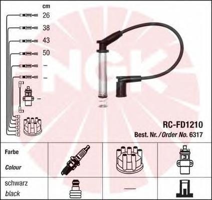 Провода зажигания к-т RC-FD1210 6317