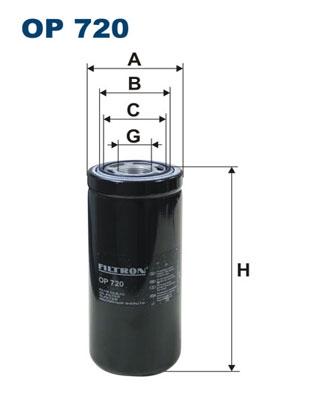 Фильтр масляный OP720