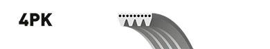 Ремень ручейковый GATES 4PK1058