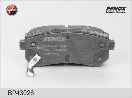 Колодки тормозные FENOX BP43026 Sportage/IX35/I20/I30 задн 2010-