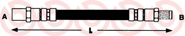 Шланг торм M10X1X185 зад GOLFII/PASSAT