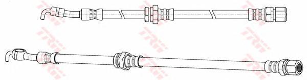 Шланг тормозной передн левый CHEVROLET LACETTI PHD948
