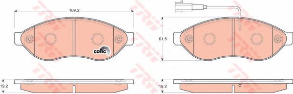 Колодки тормозные CITROEN JUMPER/FIAT DUCATO/PEUGEOT BOXER R15 06- передние