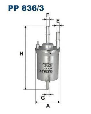 Фильтр топливный PP836/3