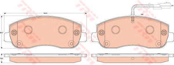 Колодки передние OPEL MOVANO B, RENAULT MASTER III GDB1910