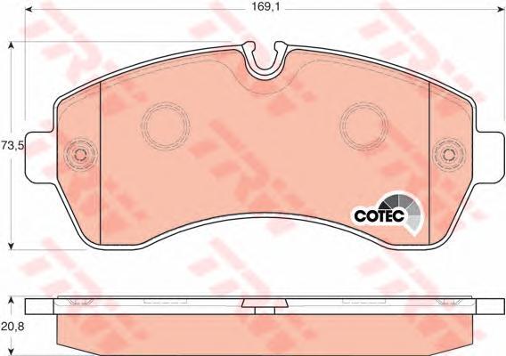 Колодки тормозные MERCEDES-BENZ SPRINTER 06>/CRAFTER (5т) 06> передние