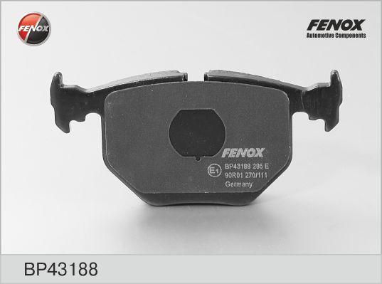 Колодки тормозные FENOX BP43188 BMW X5 задн
