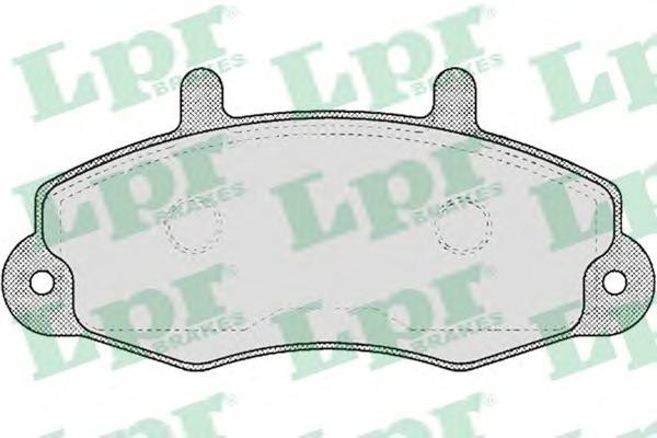 Колодки тормозные LPR 05P481 FORD TRANZIT -00 =GDB1084